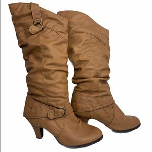 Rue21 ETC Knee High Brown Womens Boots Size XL 10